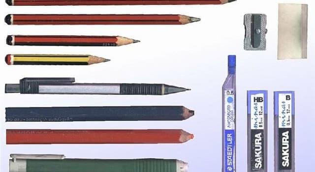 Сiencia Pregunta Trivia: ¿De qué material están hechas las minas de los lápices y crayones?