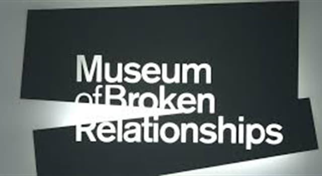 """Cultura Pregunta Trivia: ¿Dónde se encuentra el """"Museo de las Relaciones Rotas""""?"""