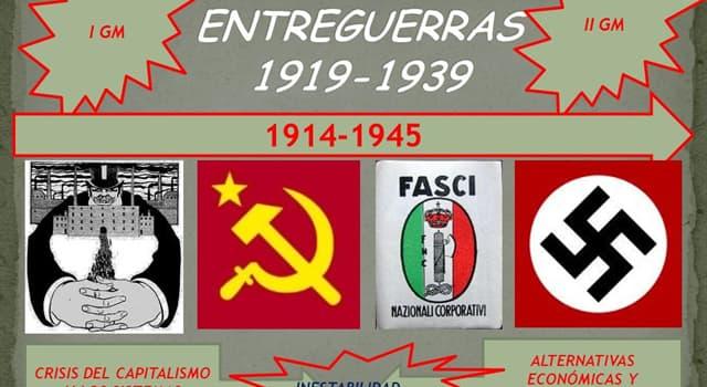 Historia Pregunta Trivia: Durante el periodo de entreguerras, 1919-1939, ¿Cómo se llamaron los dictadores de Portugal y España?