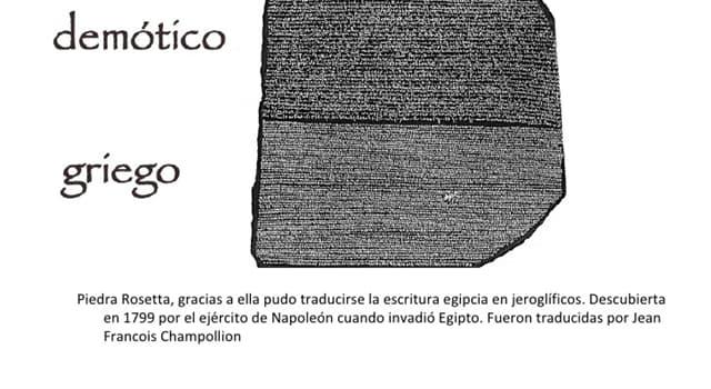 Cultura Pregunta Trivia: ¿En qué fecha fue encontrada la piedra Rosetta?