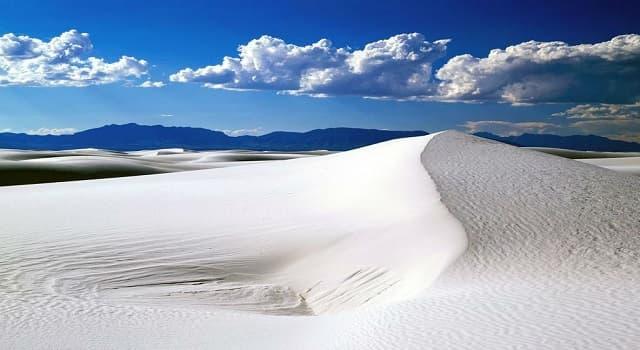 Geografía Pregunta Trivia: ¿En qué parte de México se encuentran las dunas de yeso?