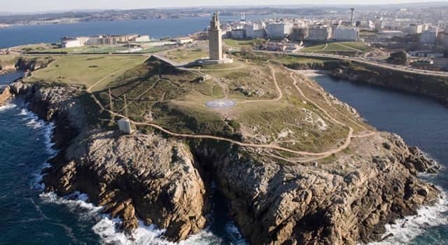 """Geografía Pregunta Trivia: ¿En qué país está situado el faro llamado: """"la Torre de Hércules""""?"""