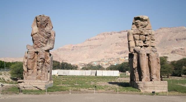 Cultura Pregunta Trivia: ¿En qué país se encuentran los Colosos de Memnón?