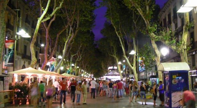 Geografia Pytanie-Ciekawostka: W centrum jakiego hiszpańskiego miasta znajdziesz słynną ulicę La Rambla?