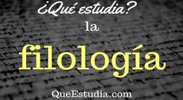 Cultura Pregunta Trivia: ¿Qué estudia la filología?