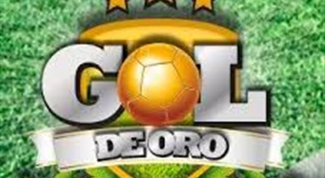 """Deporte Pregunta Trivia: ¿Qué país fue el primero en ganar un partido de fútbol de un mundial con el """"Gol de Oro""""?"""