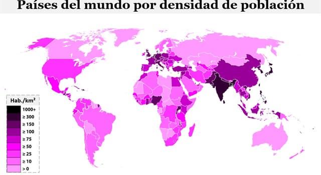 Geografía Pregunta Trivia: ¿Qué país tiene la menor densidad poblacional?