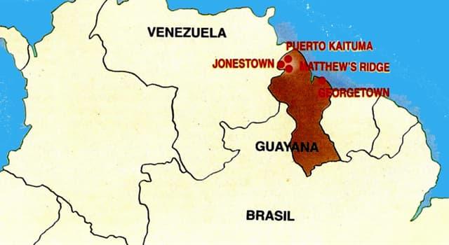 Historia Pregunta Trivia: ¿Qué terrible hecho sucedió en Guyana en 1978?