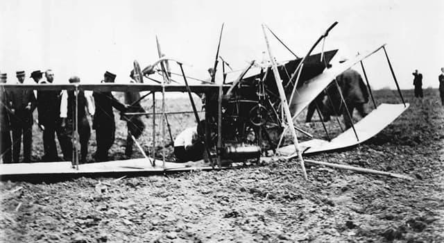 Geschichte Wissensfrage: Wer war das erste Todesopfer der motorisierten Luftfahrt?
