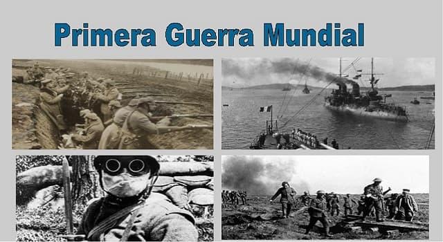 Historia Pregunta Trivia: ¿Cuál de estos Países no fue parte de las fuerzas aliadas en la Primera Guerra Mundial?
