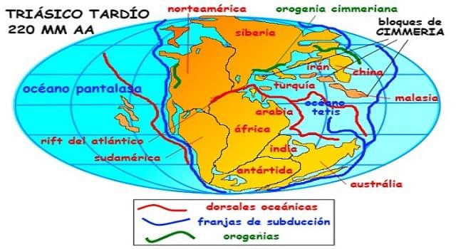 Geografía Pregunta Trivia: ¿Cuál era el nombre que recibió el océano que rodeaba al continente primitivo Pangea, a finales de la Era Paleozoica y principios de la Mesozoica?