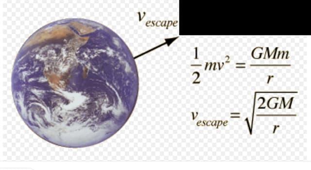 Сiencia Pregunta Trivia: ¿Cuál es la velocidad de escape de la tierra?