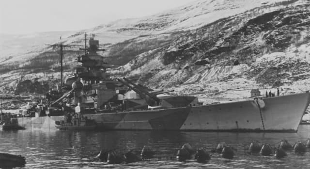 Historia Pregunta Trivia: ¿Cuál fue el destino final del Tirpitz, acorazado alemán gemelo del  Bismarck?