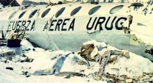 Historia Pregunta Trivia: ¿Cuántas personas sobrevivieron durante 72 días en la cordillera de los Andes luego de la caida del avión en que viajaban en 1972?