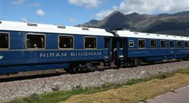 Geografía Pregunta Trivia: ¿Dónde funciona el tren denominado Hiram Bingham?