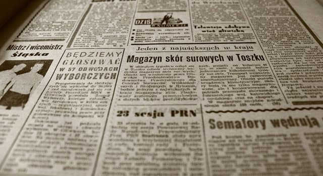 Cultura Pregunta Trivia: ¿En qué año nace el primer periódico?