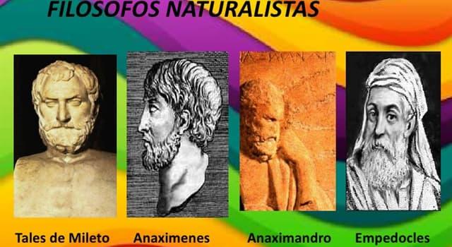 Cultura Pregunta Trivia: ¿En qué consistía el arké para Tales, Anaximandro y Anaxímenes?