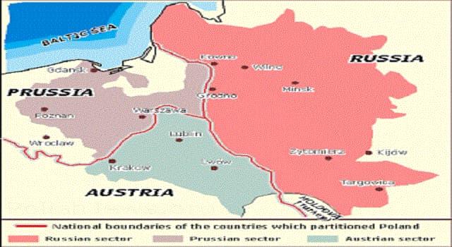 Historia Pregunta Trivia: ¿En qué fecha se llevó a cabo la tercera partición de la República de las Dos Naciones?