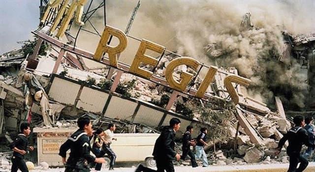 Historia Pregunta Trivia: ¿En qué fecha se registró el terremoto mas significativo y dañino en México?
