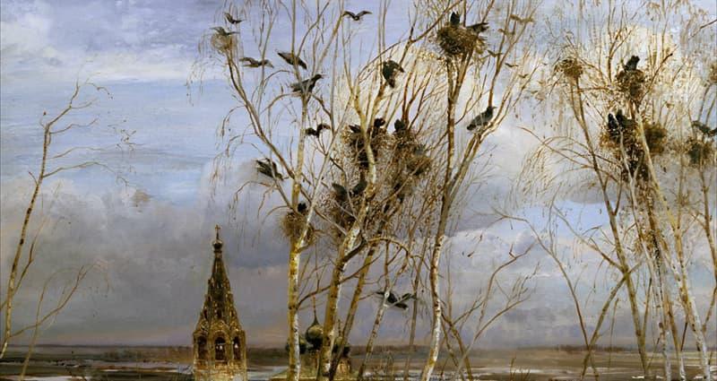 Культура Запитання-цікавинка: Хто автор картини «Граки прилетіли»?