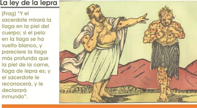 Сiencia Pregunta Trivia: ¿Qué antigüedad tiene la primer referencia de la existencia de la enfermedad de Lepra en humanos?