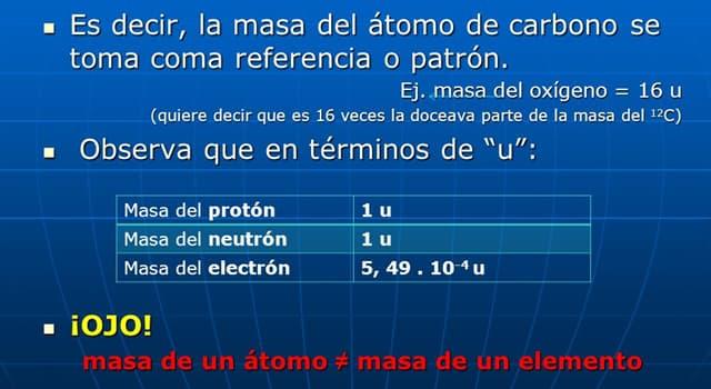 Сiencia Pregunta Trivia: ¿Qué es la masa atómica de un átomo?