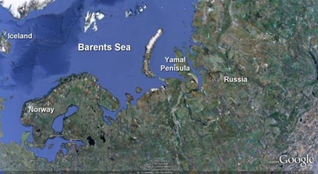Geografía Pregunta Trivia: ¿Qué profundidad media posee la plataforma continental del Mar de Barents?