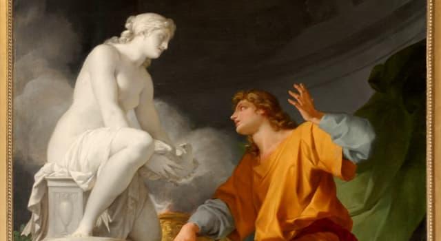 Kultura Pytanie-Ciekawostka: Który rzeźbiarz wykonał posąg kobiety, którą Afrodyta powołała do życia?