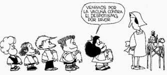 """Cultura Pregunta Trivia: ¿Con qué fin creó el dibujante Quino su personaje """"Mafalda""""?"""