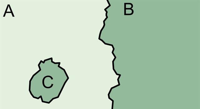 Географія Запитання-цікавинка: Як називається частина території держави, повністю оточена територією іншої держави?
