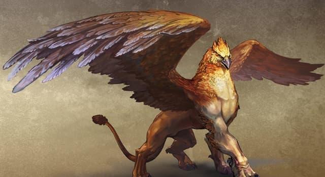Культура Запитання-цікавинка: Як називається міфологічне крилата істота, з тулубом лева і головою орла?