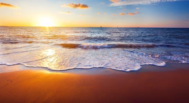 Geografia Pytanie-Ciekawostka: Mając jedynie 14 metrów głębokości, co jest najpłytszym morzem świata?