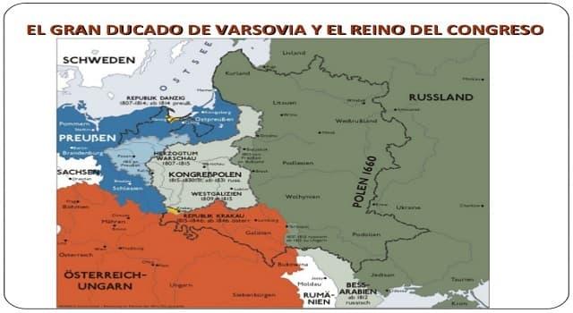 Historia Pregunta Trivia: ¿Por quién fue creado El Gran Ducado de Varsovia?