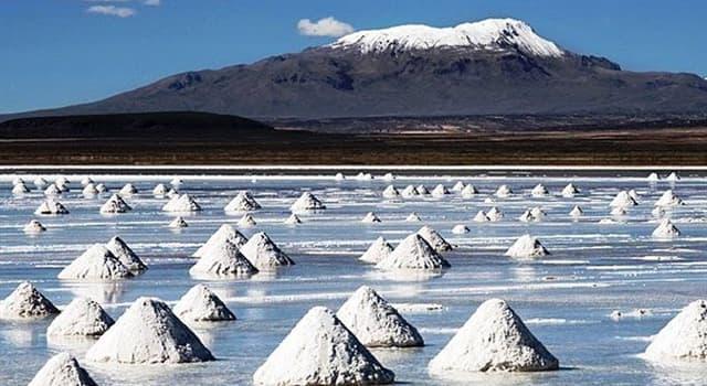 Geografía Pregunta Trivia: ¿Qué país cuenta con el depósito de sal más grande del mundo?