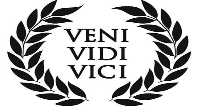 Cultura Pregunta Trivia: ¿Qué significa la locución latina veni, vidi, vici?