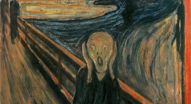 Культура Запитання-цікавинка: Як називається знаменита картина Едварда Мунка, зображена на фото?