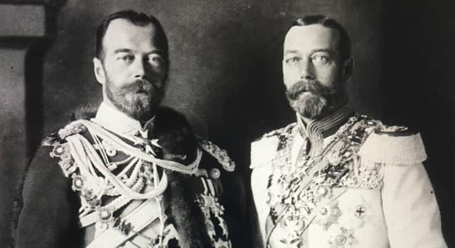 Geschichte Wissensfrage: Wie waren König Georg V. von England und Zar Nikolaus II. von Russland verwandt?
