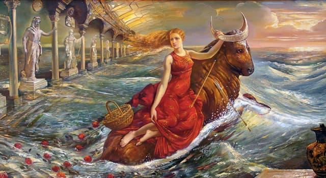 Культура Запитання-цікавинка: Як в давньогрецькій міфології звали дочку фінікійського царя?