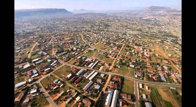 Географія Запитання-цікавинка: Яке місто є столицею Лесото?