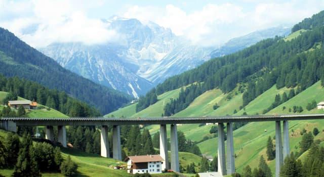 Geografia Pytanie-Ciekawostka: Z jakim krajem przełęcz Brennera łączy Włochy?