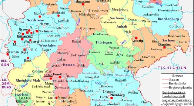 Geografia Pytanie-Ciekawostka: Jaki jest najmniejszy z szesnastu stanów w Niemczech?