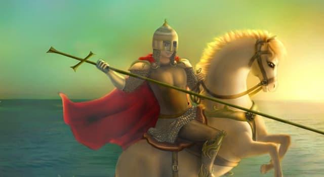Kultur Wissensfrage: Wen tötete der Schutzpatron des Königreichs England der Legende zufolge?