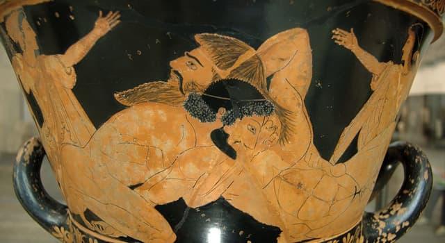 Kultur Wissensfrage: Antaios, der Sohn des Poseidon in der griechischen Mythologie, bekam seine Stärke von...