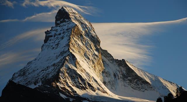 Географія Запитання-цікавинка: В якій країні знаходиться смертоносна вершина Альп Маттерхорн?
