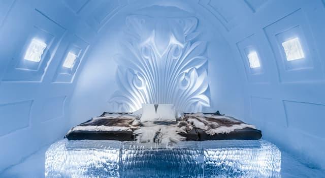 Geographie Wissensfrage: Was ist die Innentemperatur des weltberühmten Eishotels in Jukkasjärvi, Schweden?