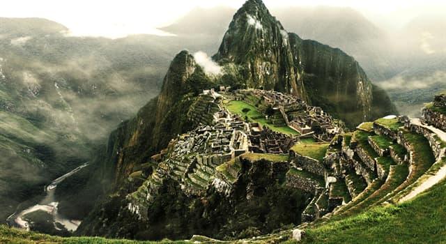 Geschichte Wissensfrage: Wer erbaute die antike Stadt Machu Picchu in Peru?