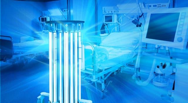 Наука Запитання-цікавинка: Як називається процес знезараження приміщень, предметів, тіла людини ультрафіолетовим випромінюванням?