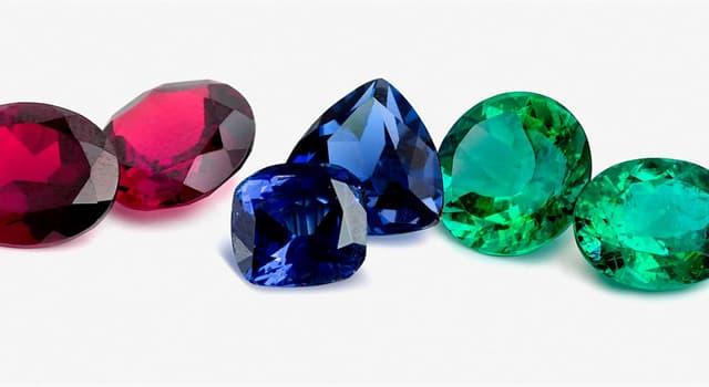 природа Запитання-цікавинка: Який з перерахованих дорогоцінних каменів зеленого кольору?