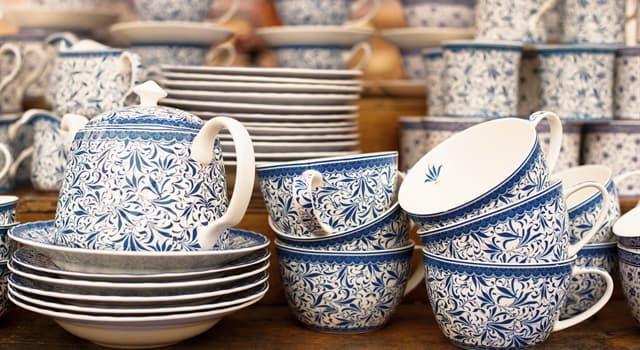 Geschichte Wissensfrage: Wo wurde im Jahre 620 zum ersten Mal Porzellan hergestellt?