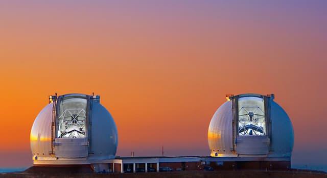 nauka Pytanie-Ciekawostka: Na którym wulkanie znajdują się dwa największe bliźniacze teleskopy świata?